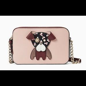 NWT Authentic Kate Spade double zip Dog Crossbody